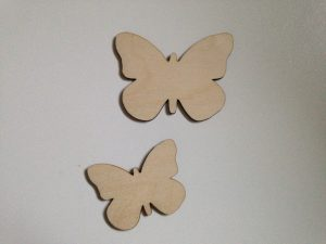 Butterfly craft shapes laser cut from 3mm birch plywood