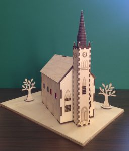 Model of Stevenston High Kirk