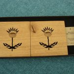 Wooden Thistle Coasters - solid oak