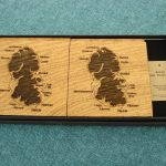 Wooden Isle of Arran Coasters in solid 5.5mm European Oak