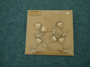 Wooden thistles - laser cut