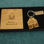 Wooden New Home Coaster in solid 5.5mm European Oak