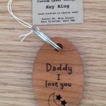 Daddy I love you wooden keyring