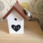 Bird Box - hand crafted from hardwood then painted to order