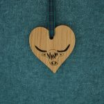 Wooden Hairy Coo Heart