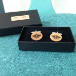Wooden Honey Bee Cufflinks - Oak