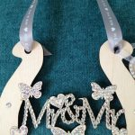 Personalised Wooden Mr & Mr Horseshoe encrusted with Swarovski crystals