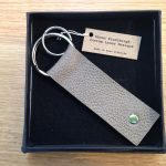 Lasercut Leather key ring