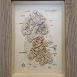 Wooden Topographical representation of Isle of Arran