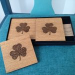 Shamrock Oak Coasters