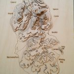 Isle of Arran topographical representation in laser ply