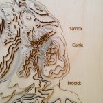 Isle of Arran - detail view of north west coast - wooden topographical representation